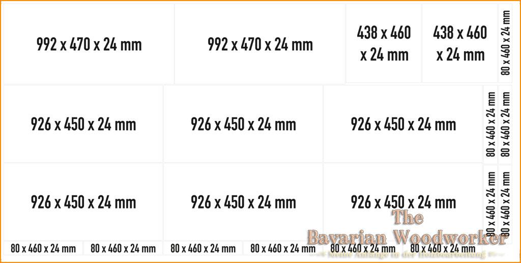 Zuschnittplan gefertigt mit CorelDraw
