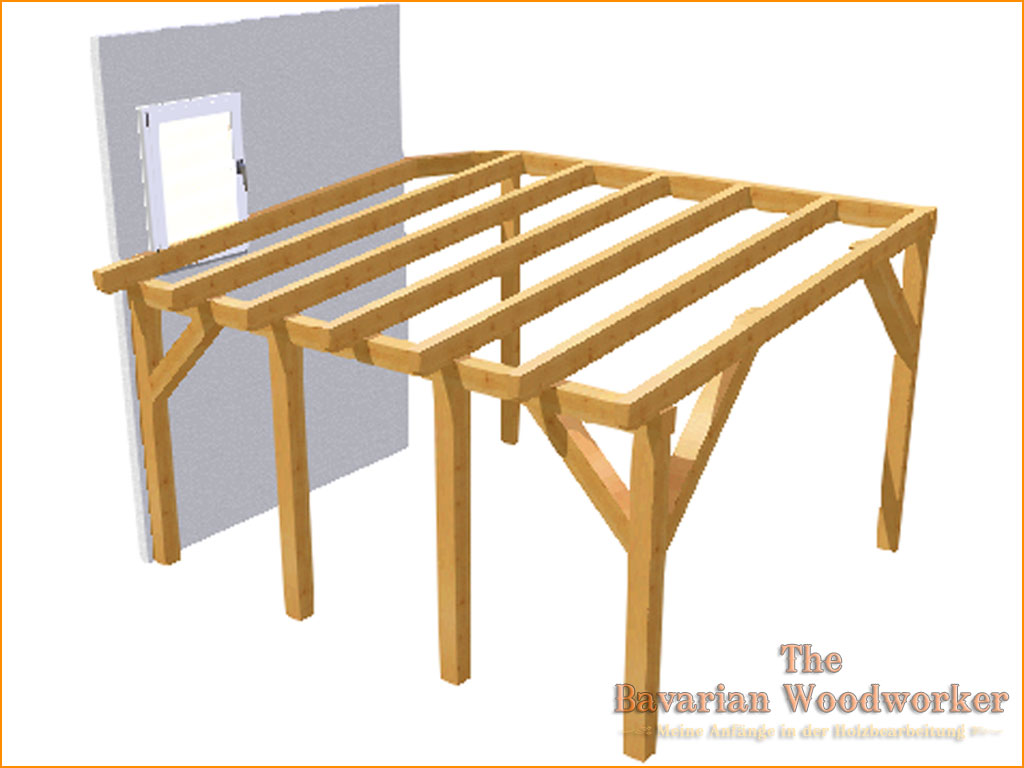 vordach f r die terrasse the bavarian woodworker. Black Bedroom Furniture Sets. Home Design Ideas